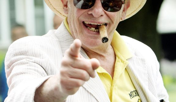 Boxing writer and historian Bert Sugar, known for his fedora and cigar, died March 25, 2012, from cardiac arrest and lung cancer. He was 75. (Associated Press)
