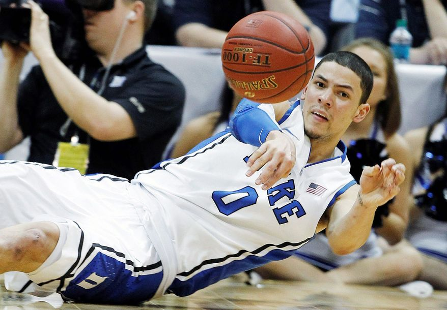Duke guard Austin Rivers is just the fourth player to leave for the NBA after one season in Mike Krzyzewski's 32 seasons at the Durham, N.C., school. Rivers' father, Doc Rivers, coaches the Boston Celtics. (Associated Press)