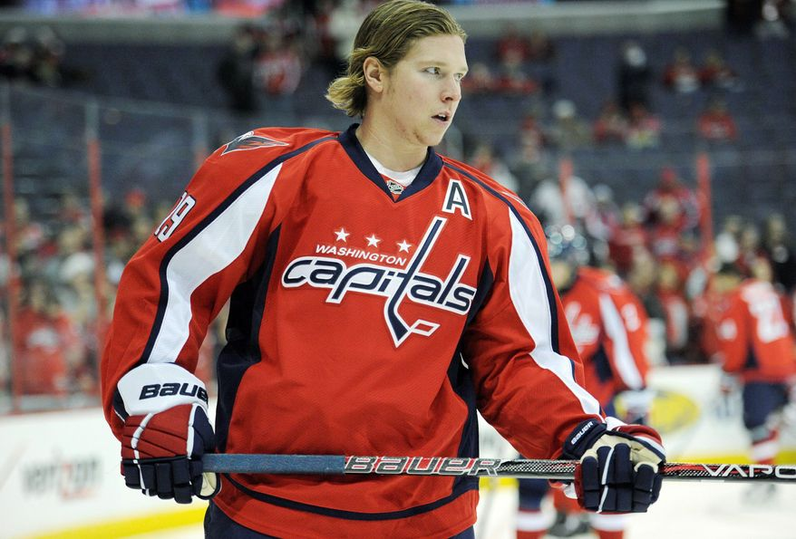 Center Nicklas Backstrom is tied for fourth on the team in scoring with 42 points despite missing half of the Capitals' 76 games. He was on track for an All-Star season when he suffered a concussion Jan. 3. (Associated Press)