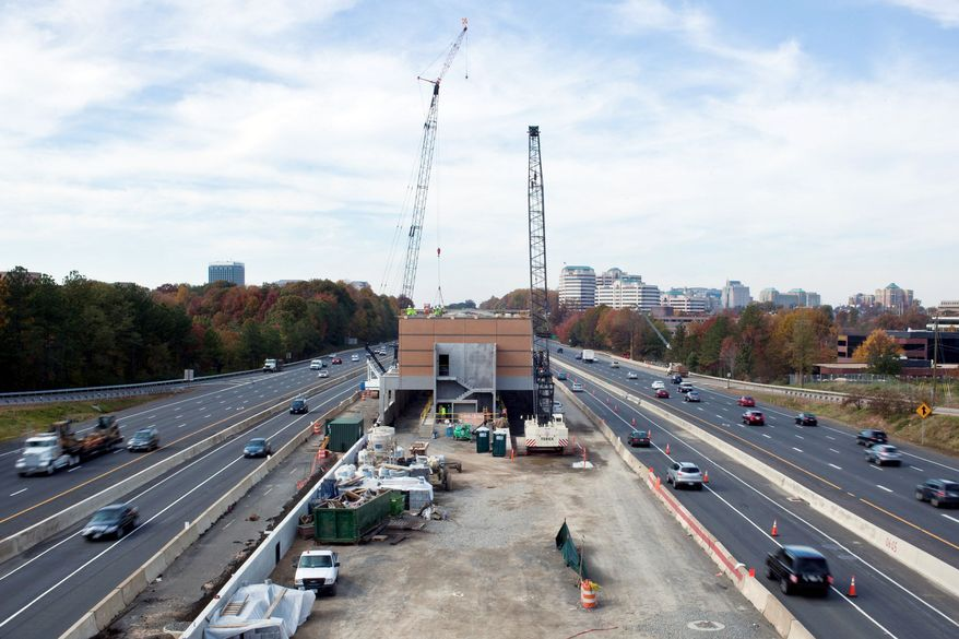 Phase 2 of the Dulles Metrorail project begins at the Wiehle Avenue station in Fairfax County. Funding for the project is emerging as a sticking point in Virginia's two-year, $85 billion spending plan. (The Washington Times)