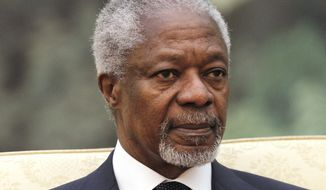 Former U.N. Secretary-General Kofi Annan is the joint U.N.-Arab League envoy to Syria. (AP Photo/Lintao Zhang, Pool)
