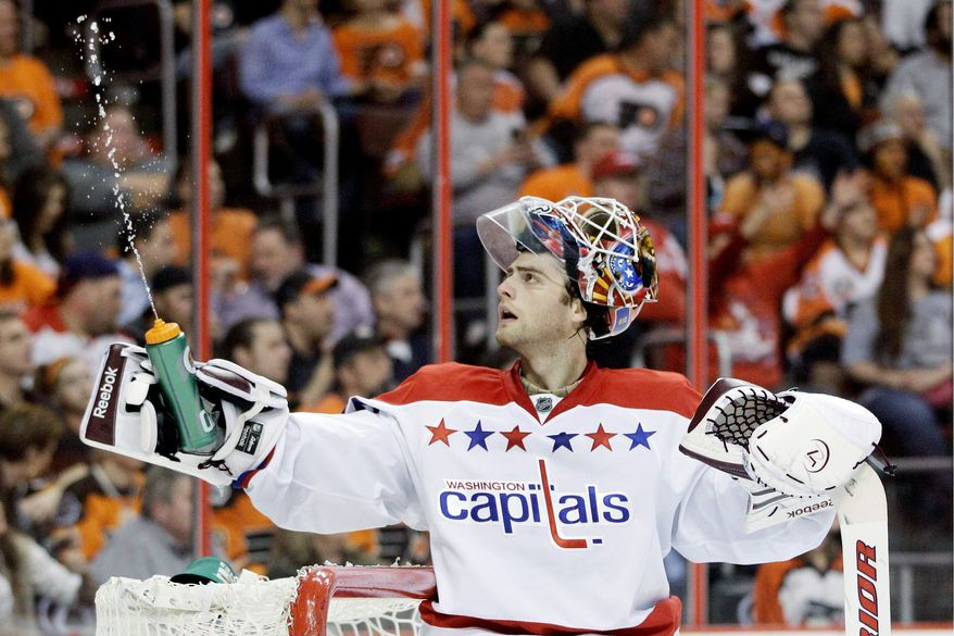 Twenty-two-year-old Washington Capitals goalie Braden Holtby has one shutout among his five starts since being promoted from Hershey (AHL). (Associated Press)