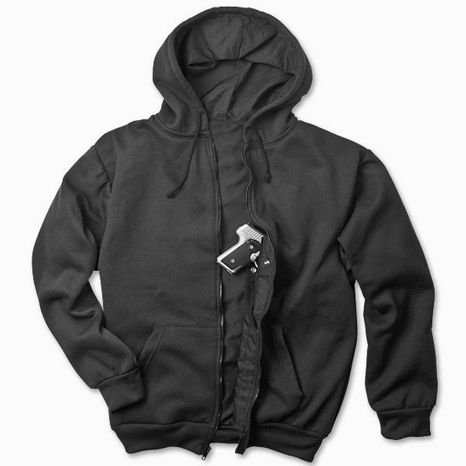 "The National Rifle Association is offering a ""concealed carry hoodie,"" billed as ""ideal for carrying your favorite compact to mid-size pistol."""
