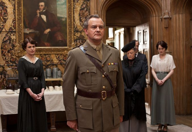 """Elizabeth McGovern (from left), Hugh Bonneville, Maggie Smith and Michelle Dockery star in """"Downton Abbey"""" on PBS' """"Masterpiece."""" (PBS)"""
