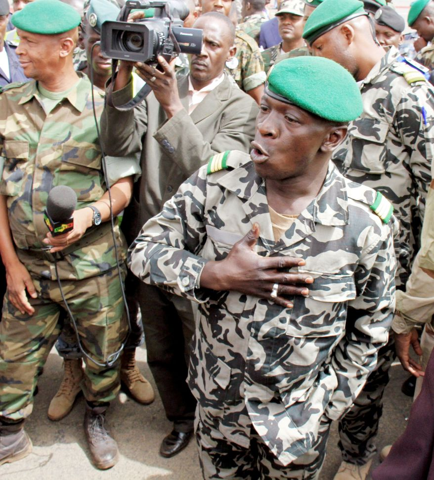 Capt. Amadou Haya Sanogo has led a coup in Mali that has the West African economic bloc, ECOWAS, threatening military force if he doesn't step down. (Associated Press)