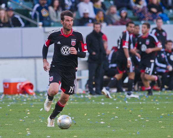 Emiliano Dudar, 30, started for D.C. in a scoreless draw at Vancouver last Saturday. His first playing time came at Los Angeles on March 18 after Dejan Jakovic suffered a groin strain. (D.C. United)