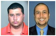 George Zimmerman, a neighborhood watch volunteer in Sanford, Fla., who shot unarmed 17-year-old Trayvon Martin on Feb. 26, 2012, is seen at left in booking photo provided by the Orange County Jail via the Miami Herald following a 2005 arrest, and at right in an undated but recent photo of Zimmerman taken from the Orlando Sentinel's website. (Associated Press)