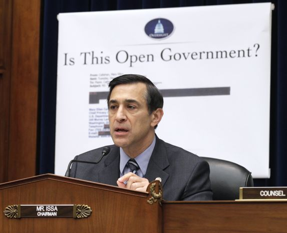 **FILE** House Oversight and Government Reform Committee Chairman Darrell Issa, California R