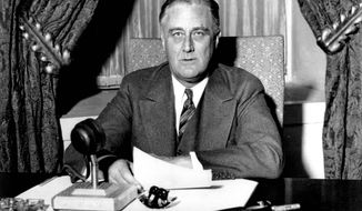 President Franklin D. Roosevelt won his first of four terms 12 years after being on a losing ticket in 1920 as James M. Cox's vice-presidential running mate. But history shows that running for vice president is a political gamble. (Associated Press)