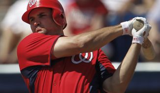 Injuries have taken their toll on the Washington Nationals, who have scored seven runs over their last five games, five losses. Ryan Zimmerman is on the disabled list and has missed nine straight games with a right shoulder injury. (AP Photo/Paul Sancya)