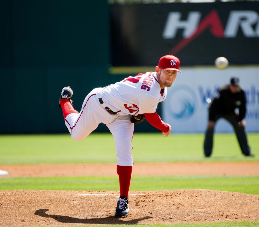 Stephen Strasburg will be shut down once he reaches about 160 innings. He started five games in 2011 in his return from elbow surgery. (Andrew Harnik/The Washington Times)