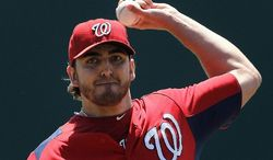 The Nationals sent John Lannan to Triple-A and will now use Ross Detwiler in the rotation to begin the season. (Associated Press)
