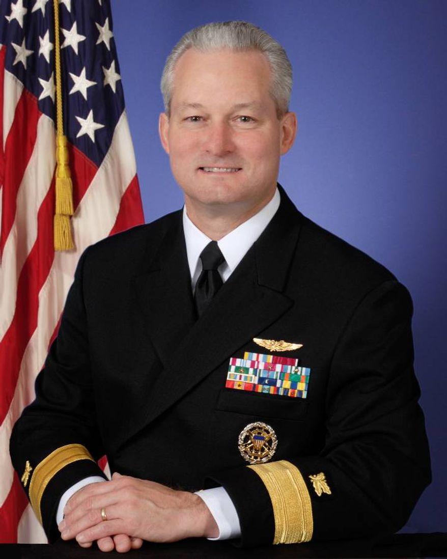U.S. Navy Rear Adm. Baucom, commander of Defense Logistics Agency Troop Support, says his personnel are committed to providing American troops in the Middle East with all they need to observe their religious beliefs at Easter and Passover. (Defense Dept. photo)