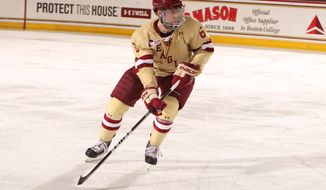 Boston College junior defenseman and Capitals' prospect Patrick Wey will get his first taste of NCAA Frozen Four action after dealing with a number of injuries. (Boston College/John Quackenbos)