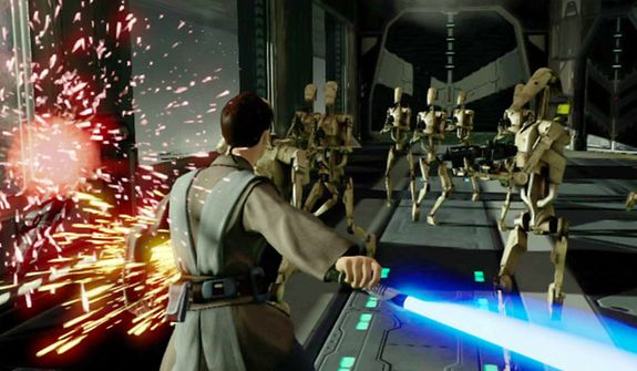Challenge the forces of evil without using a controller in the video game Kinect Star Wars.