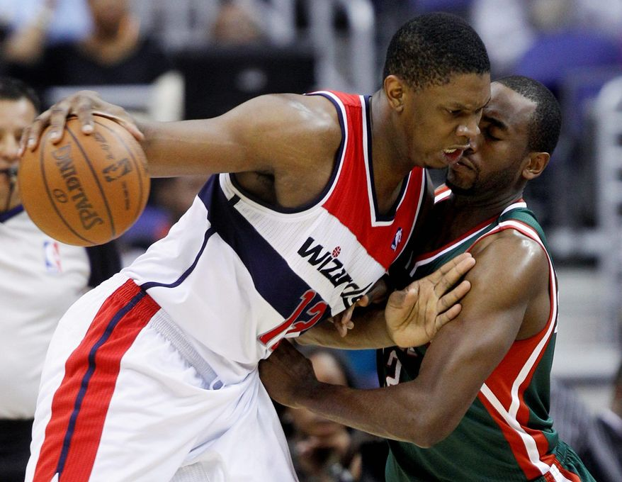 Kevin Seraphin has produced 10 or more points in 10 of the Wizards' 13 games since the trades that moved JaVale McGee, Nick Young and Ronny Turiaf. (Associated Press)