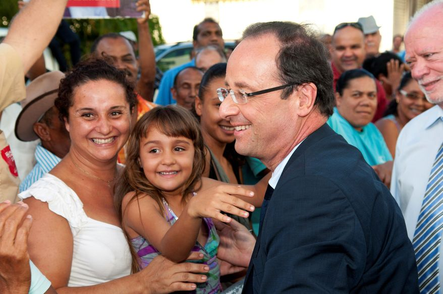 """Francois Hollande (seen here) has gained popularity for his tax-the-rich proposal in his campaign to unseat French President Nicolas Sarkozy, who is struggling to shed his image as """"President Bling Bling"""" in a country with widespread aversion to wealth. (Associated Press)"""