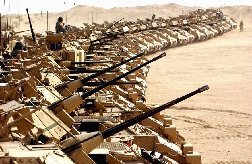 Lawmakers are questioning the need for buying two new troop carriers, the $40 billion Ground Combat Vehicle to replace the Army's Bradley Fighting Vehicle (above), and the $54 billion Joint Light Tactical Vehicle to succeed the aging Humvee. (Associated Press)