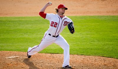 Nationals closer Drew Storen Storen was shut down during spring training after feeling tenderness in his elbow following just two game appearances. (Andrew Harnik/The Washington Times)