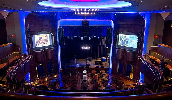 Those who used to frequent the Howard Theatre in Washington, D.C. back in the day are very impressed with the newly renovated space, which opened to the public Monday, April 9, 2012. Names like Duke Ellington, Marvin Gaye and Diana Ross used to play the club, which many residents remember cutting school to go to as well. The theater will now offer a full-scale kitchen, bar and of course, live acts. (Barbara L. Salisbury/The Washington Times)