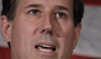 Republican presidential candidate and former Pennsylvania Sen. Rick Santorum announces April 10, 2012, he is suspending his candidacy in Gettysburg, Pa. (Associated Press)