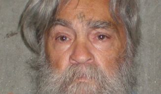Serial killer Charles Manson, seen here April 4, 2012, will have an April 11, 2012 parole hearing in California. (Associated Press/California Department of Corrections)