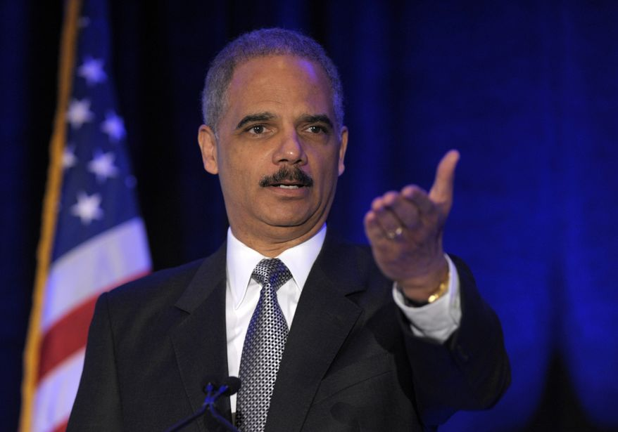 **FILE** Attorney General Eric Holder speaks April 2, 2012, in Washington. (Associated Press)