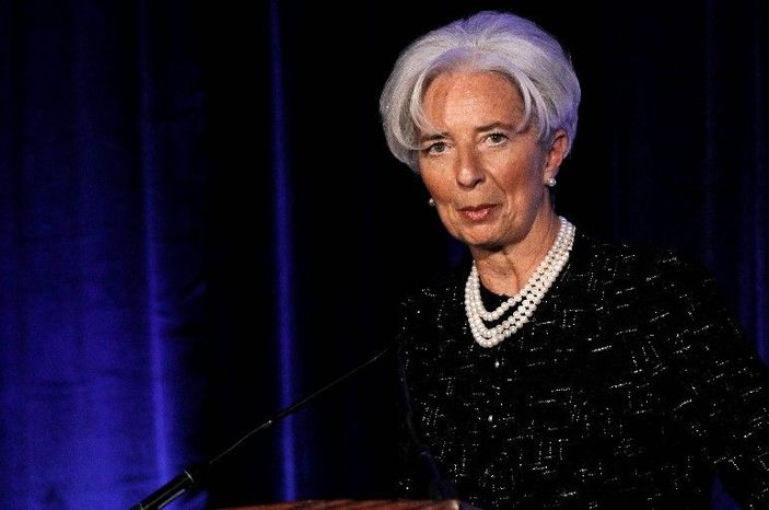 Christine Lagarde, managing director of the International Monetary Fund, on Thursday called for a worldwide safety net similar to the reserve fund that European institutions have created to bail out debt-ridden members. (Associated Press)