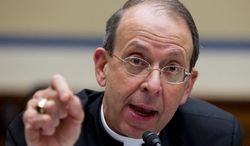 Archbishop-designate William E. Lori is the head of the Ad Hoc Committee on Religious Liberty of the U.S. Conference of Catholic Bishops. (Associated Press)