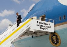 President Obama can use Air Force One and military aircraft for official business, but federal election laws require reimbursement for political travel. His Florida trip combined official and campaign events. (Associated Press)