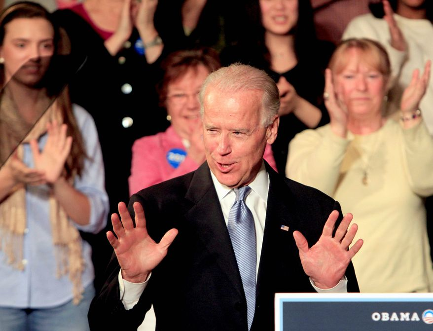"Vice President Joseph R. Biden in New Hampshire criticized Republican presidential front-runner Mitt Romney and congressional Republicans for opposing the so-called ""Buffett rule,"" a minimum tax rate of 30 percent for people who make more than $1 million a year. (Associated Press)"