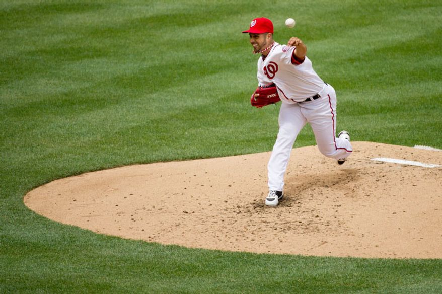 Washington Nationals starting pitcher Gio Gonzalez (47) pitches in the 4th inning. (Andrew Harnik/The Washington Times)