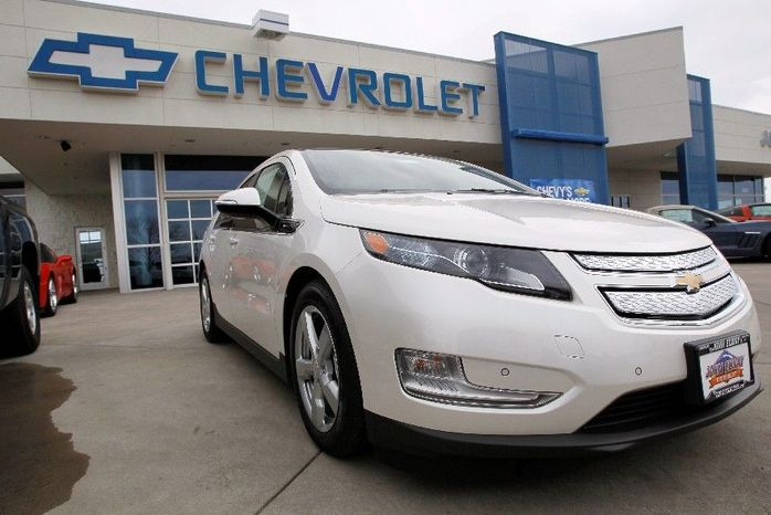 Gas prices flying past $4 a gallon have played a big part in a surge in sales of hybrid and electric cars, including the Chevrolet Volt. In March, General Motors Co. set a monthly sales