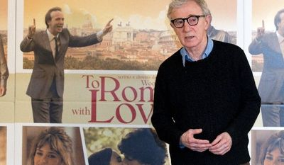 "Some critics say writer-director Woody Allen has loaded his new film, ""To Rome With Love,"" with old-fashioned Italian stereotypes. ""When I come to a place to make a movie, I give you my own impression of it,"" Mr. Allen responded. (Associated Press)"