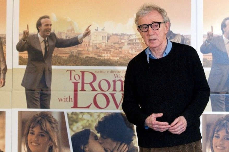 """Some critics say writer-director Woody Allen has loaded his new film, """"To Rome With Love,"""" with old-fashioned Italian stereotypes. """"When I come to a place to make a movie, I give you my own impression of it,"""" Mr. Allen responded. (Associated Press)"""