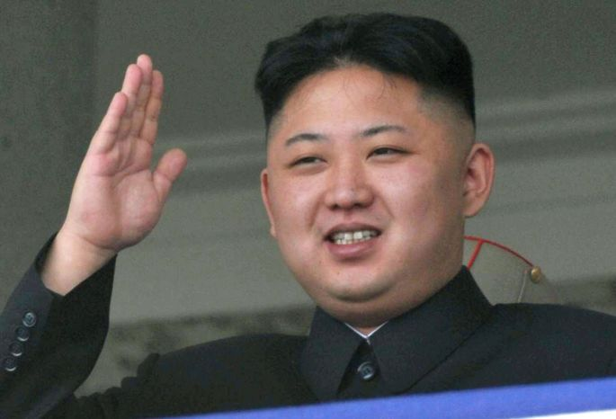 **FILE** North Korean leader Kim Jong-un salutes during a mass military parade in the Kim Il-sung Square in Pyongyang, North Korea, on April 15, 2012, to celebrate the 100th anniversary of the birth of the country's founder, Kim Il-sung. (Associated Press/Kyodo News)