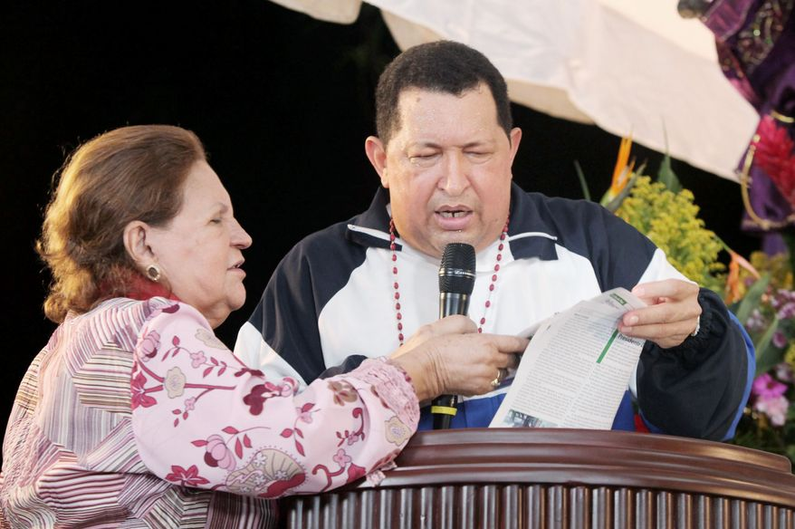 "Mr. Chavez was accompanied by his mother, Elena Frias de Chavez, to a Mass in Barinas, Venezuela, on April 5 after a new round of cancer treatment. ""Give me your cross, 100 crosses. I'll carry it, but give me life because there are still things left for me to do for these people and for this homeland. Don't take me away yet,"" he prayed."