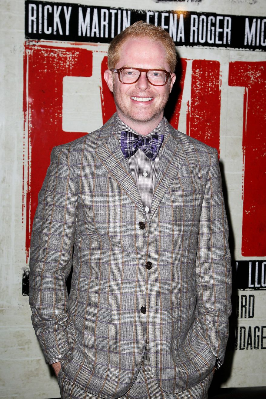 "In this April 5, 2012 photo, actor Jesse Tyler Ferguson attends the Broadway opening of ""Evita,"" starring Ricky Martin, at the Marriott Marquis Hotel in New York. Ferguson is making a cameo for ""Submissions Only,"" a new online scripted sitcom now wrapping up its second season that takes a hysterical look at the behind-the-scenes life of New York theater hopefuls. (AP Photo/Starpix, Amanda Schwab)"