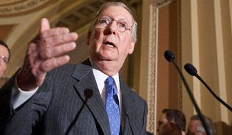 Senate Minority Leader Mitch McConnell, Kentucky Republican (Associated Press)