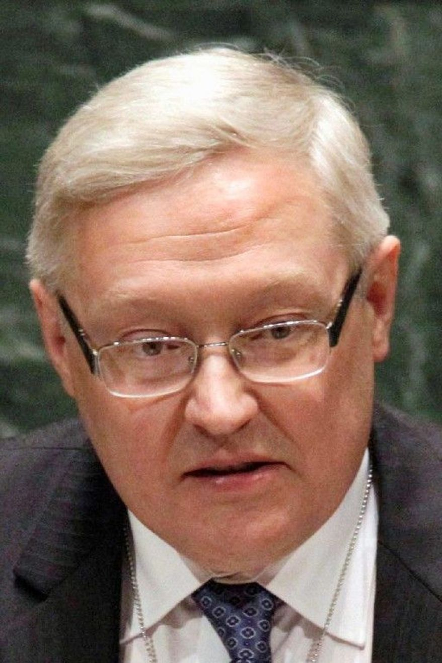 Sergey Ryabkov, Deputy Foreign Minister of the Russian Federation, at United Nations headquarters, Tuesday, May 4, 2010. (AP Photo/Richard Drew)