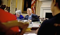 Maryland Gov. Martin O'Malley on Wednesday voted to keep the state property-tax rate at its current level. The state, which is expected to pay $922 million in debt in the upcoming fiscal year, has not raised the tax since 2003. (Rod Lamkey Jr./The Washington Times)