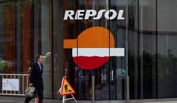 ** FILE ** A gas station run by the Spanish firm Repsol. (Associated Press)