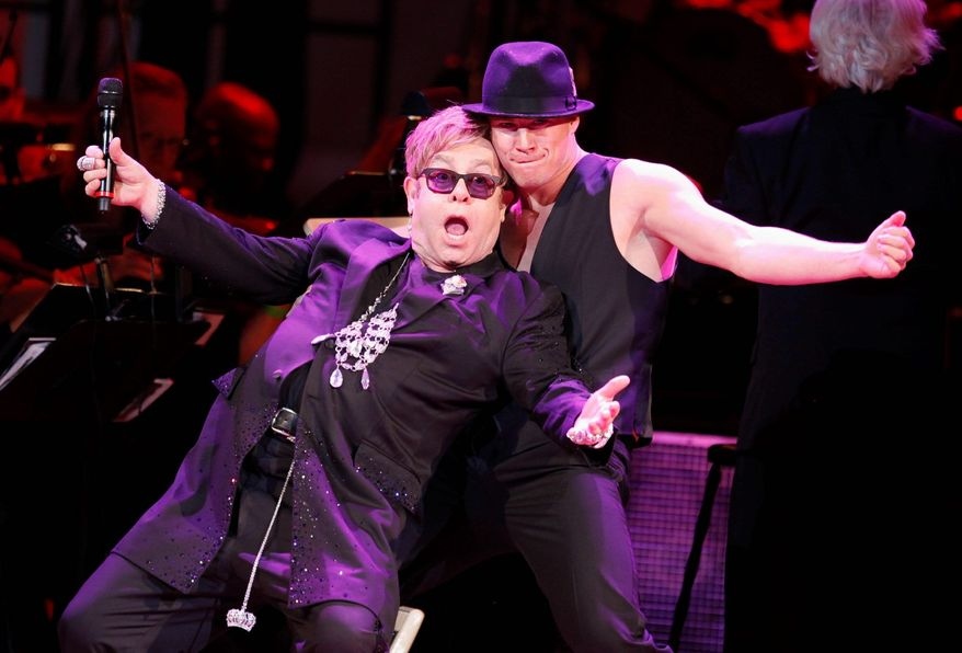 Elton John, shown with Channing Tatum at Carnegie Hall in New York.  (Associated Press)
