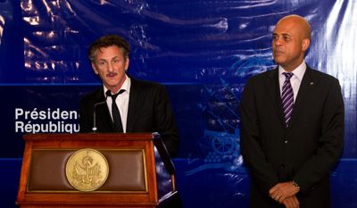"Mr. Penn, with Haitian President Michel Martelly, was named ambassador-at-large for Haiti in recognition of his humanitarian work since the earthquake. ""My job is to help people get the future they want to have,"" Mr. Penn says."