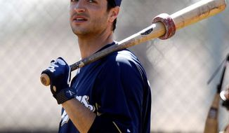 Milwaukee outfielder Ryan Braun's 50-game suspension for violating baseball's drug policy was overturned by an arbitrator, allowing the reigning National League MVP to play. (Associated Press)