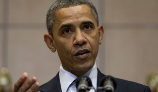 President Obama speaks April 23, 2012, at the Holocaust Memorial Museum in Washington. (Associated Press)