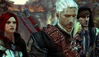 Geralt of Rivia and his pals explore Temeria in the video game The Witcher 2: Assassins of Kings, Enhanced Edition.