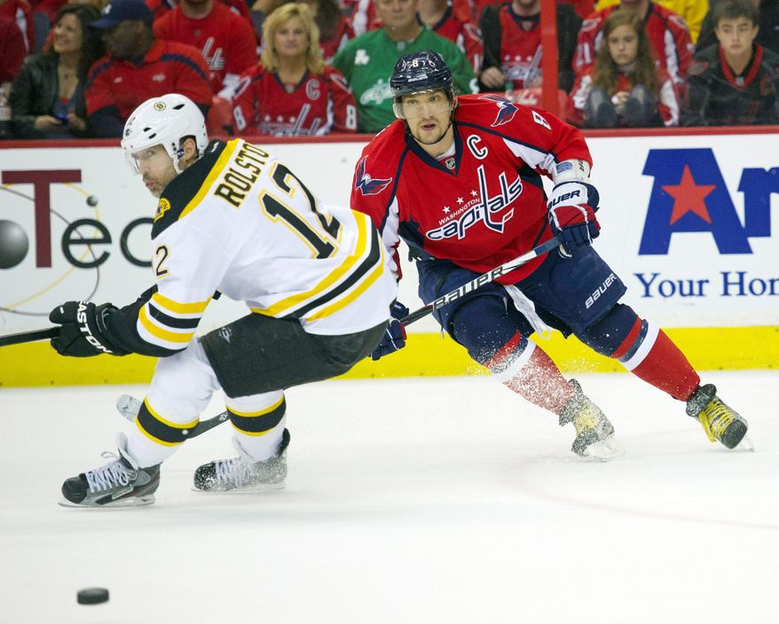 Capitals captain Alex Ovechkin has played in four Game 7s since the 2008 postseason, all on home ice, and Washington has gone 1-3. This time, the Capitals will be on the road for Game 7 when they play Boston on Wedneday night. (Rod Lamkey Jr./The Washington Times)