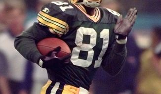 Receiver/kick returner Desmond Howard didn't make a splash with the Redskins like he did with Green Bay, when he was named MVP of Super Bowl XXXI. Among his highlights that day was this 99-yard kickoff return. (Associated Press)