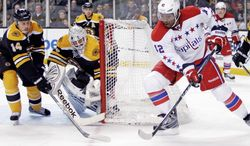 Capitals right wing Joel Ward totaled just six goals and 12 assists in the regular season, but he's crafting a reputation as a postseason force. On Wednesday, his overtime goal eliminated defending Stanley Cup champion Boston. (Andrew Harnik/The Washington Times)